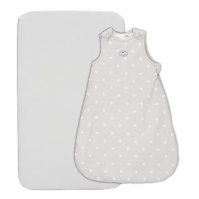 New Chicco Silver Baby Sleeping Bag And Fitted Sheet Set From Birth