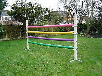 "PolyJumps Plastic Showjump - 6Ft Stands - 4 Poles - 11Ft x 4"" - Cost £230"
