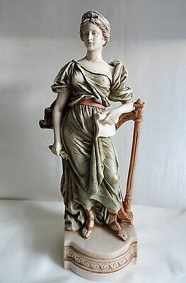"Antique Parian Porcelain Figurine Neo Classical Style 37cm/14.5 "" Tall"