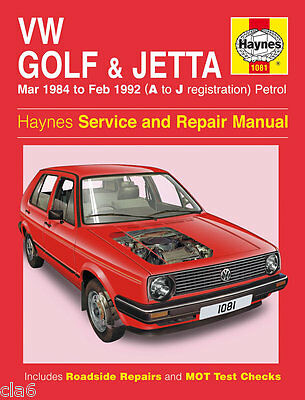 Volkswagen VW Mk2 Jetta Golf GTi Workshop Service & Repair Manual 1984-92 NEW