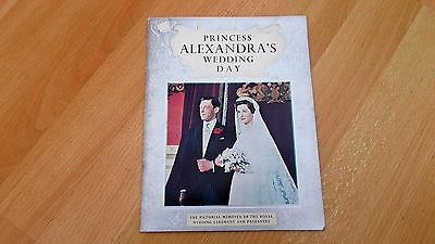 PRINCESS ALEXANDRA'S, WEDDING DAY BOOK. By; PITKIN. 1963. 32, pages. Good Cond.
