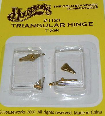 Dollhouse Miniature Hinge Triangular Set 4 Houseworks 1121  1:12 Scale