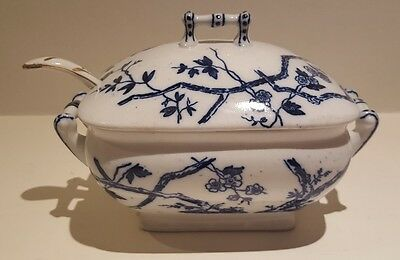 Fine Porcelain Tureen With Ladel