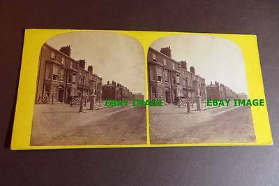 Lancashire BLACKPOOL 1860s Albert Terrace Stereoview by Sampson, Southport