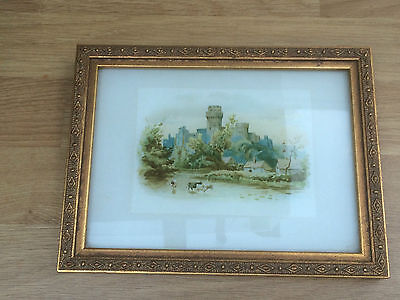 Small antique print framed and glazed