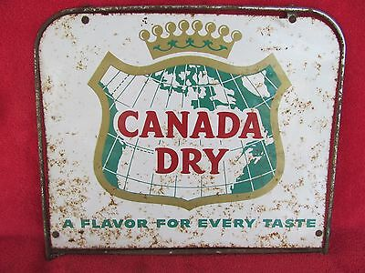 Original Old Vintage Canada Dry Double Sided Metal Advrtising Sign Soda Pop Cola