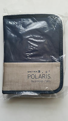 United Airlines Polaris Business Class amenities kit, new, sealed