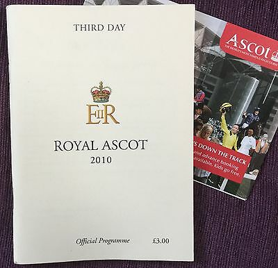 Signed Race Card 2010 Ascot Gold Cup *rite Of Passage* Autographed Pat Smullen