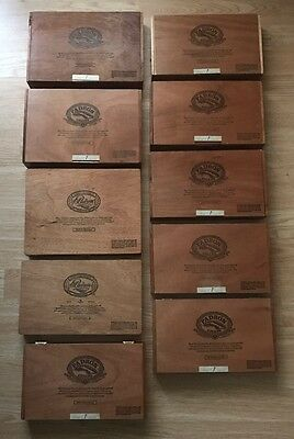 Padron Empty Cigar Boxes Lot Of 10