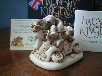 Harmony Kingdom Heavy Petting Elephant Blue Box Marble Resin UK Made Sgn NIB
