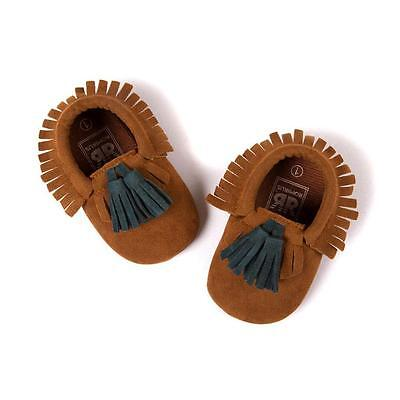 Fashion Leather Shoes Infant Baby Girls Boys Soft Sole Toddler Moccasin^12 Sale+