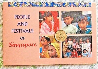 1990 Singapore Mint People and Festivals of Singapore $ 1.00 Coin $ 1.00 Paper