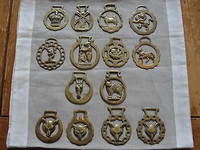 14 Medallions Horse Brass, Harness Brass, Vintage Brass, Metalware Ornaments