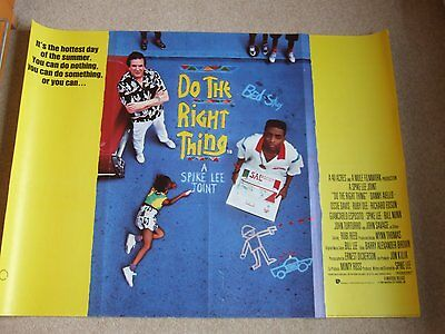 """""""Do The Right Thing"""" UK Quad Movie Poster - RARE"""