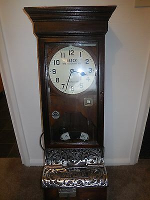 beatiful clocking in and out vintage clock