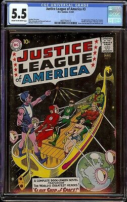 Justice League # 3 CGC 5.5 CRM/OW (DC, 1961)