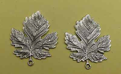 4PCS free shipping antique silver delicate lovely leaves charm pendant