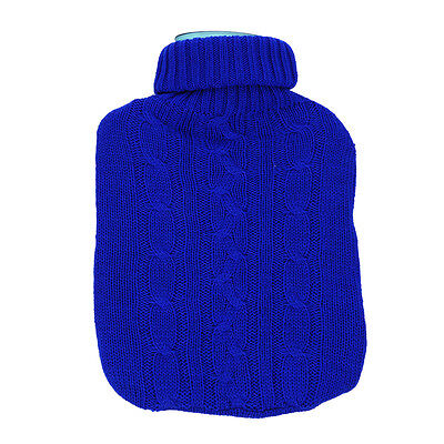 2L Large Hot Water Bottle Quality Hot Water Bottles With Arran Knitted Cover UK