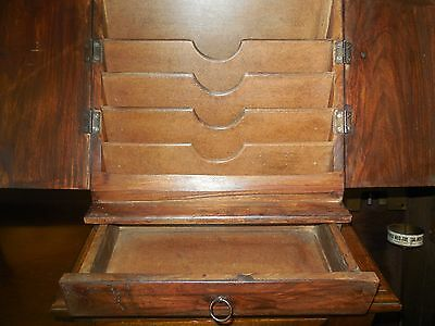 wood mail cabinet staionary holder