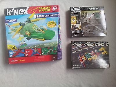 K'NEX SETS X 3 (B.New+Old) RESCUE COPTER + TITANFALL+ Old.READ  FREE SF POSTAGE