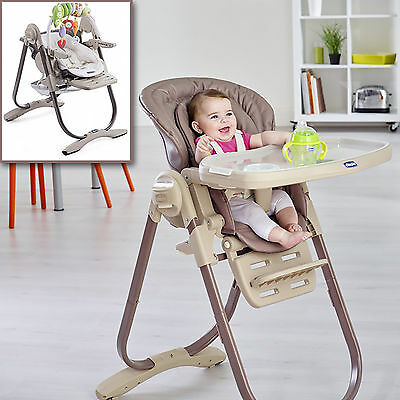 New Chicco Truffle Polly Magic Highchair Reclining Baby Chair Height Adjustable