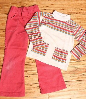 EUC Vintage Health-Tex School 2 piece Set, Made in USA Size 6x  Rust Colors
