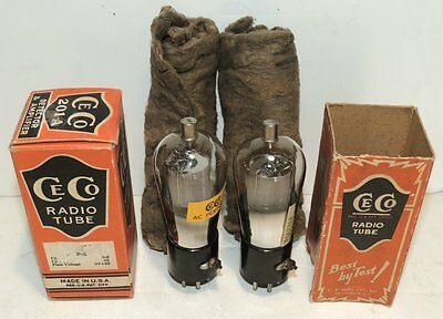 One Pair NOS CECO P1 Pentode Tube For Norden-Hauck Super DX-5 Radio Receiver