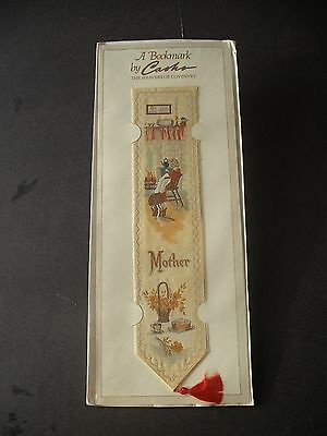Vintage Cash's Woven Silk Bookmark: 'Mother'.  Sealed In Original Package.