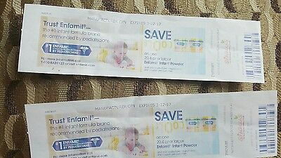 2- Enfamil coup$10.00 Off One 20.4 oz or larger  expires 3-22 manufacturer coup