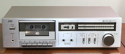 JVC Vintage Cassette Tape Deck - KD-D2 - Aluminum Silver Face - Serviced/Tested