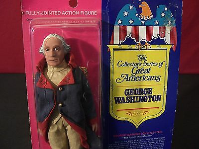 Vintage Fun World Great Americans George Washington 1976 Rare Doll / Figure
