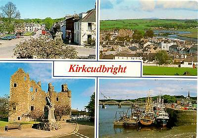 Kirkcudbright - Multiview - Scotland  - Postcard 1994
