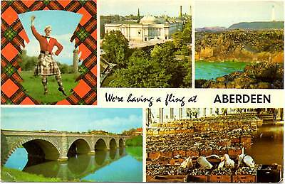Aberdeen - Multiview - Scotland - Postcard 1976