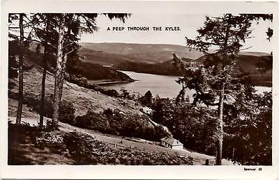 A Peep Through The Kyles - Scotland - Old Real Photo Postcard 1953