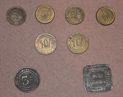 Collection of Vintage Williams Brothers Tokens