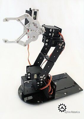 Robotic Arm (with servos) Kit - Including photographic build instructions