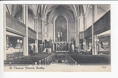 Worcestershire Dudley St Thomas Church Interior Postcard