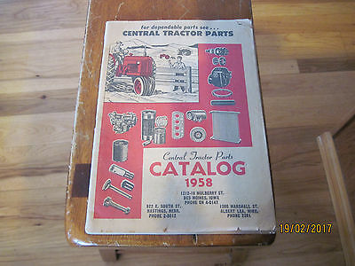 Central Tractor Parts Catalog 1958