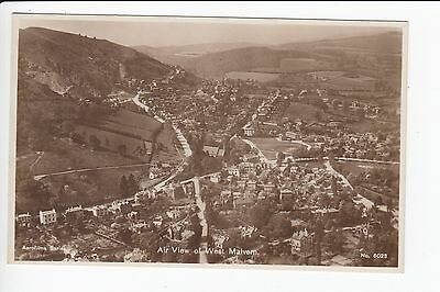 Worcestershire Air View of West Malvern Aerofilms Real Photo Postcard