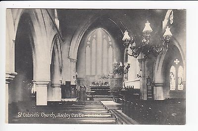 Worcestershire Hanley Castle St Gabriels Church Postcard