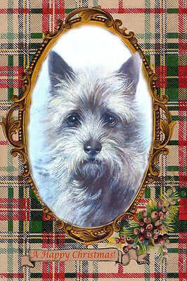 Cairn Terrier Dog Portrait by Marcy Creed ~ LARGE New Christmas Note Cards