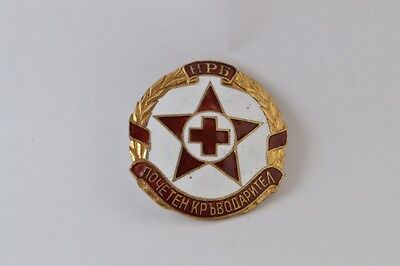 1949 Red Cross Blood Donor Honorary Badge Enamel Bulgaria Donation