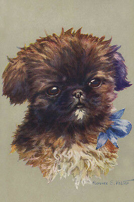 Pekingese Puppy Dog by Florence E. Valter 1930's - LARGE New Blank Note Cards