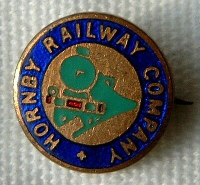 Toy Trains Hornby Railway Company Small Pin Back Enamel Badge