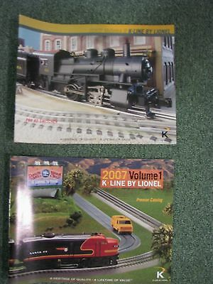 K-Line 2007  Full Color Catalogs Volumes 1 & 2 by Lionel