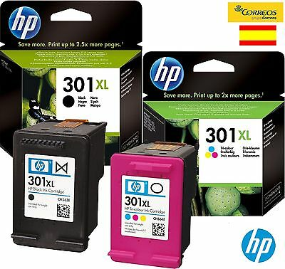 Pack Hp Tinta Negra   Tricolor Hp 301  Xl Cartucho Original Hp