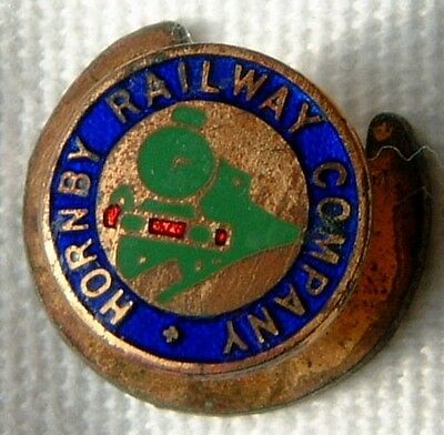Toy Trains Hornby Railway Company Small Enamel Lapel Badge