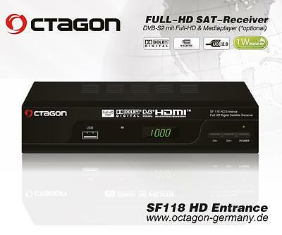 Octagon SF118 High Definition Free To Air Budget Value Satellite Receiver