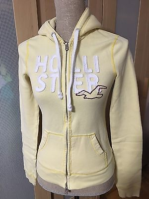 Hollister Hoodie Sweater Womens Yellow Size Small
