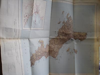 A large Map of MAHÉ, Seychelles Dated 1965